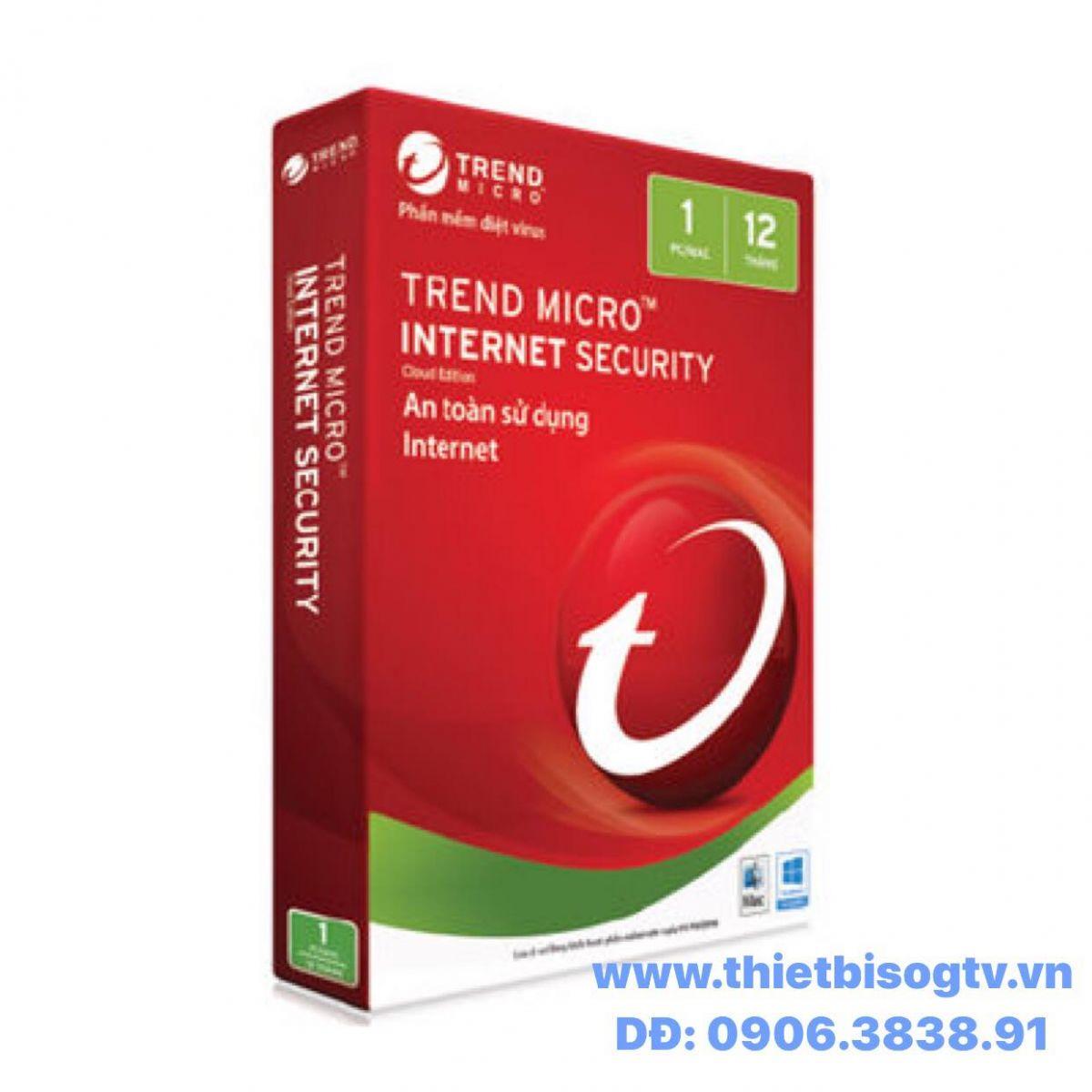 PHẦN MỀM DIỆT VIRUS TREND MICRO INTERNET SECURITY 2018 1PC