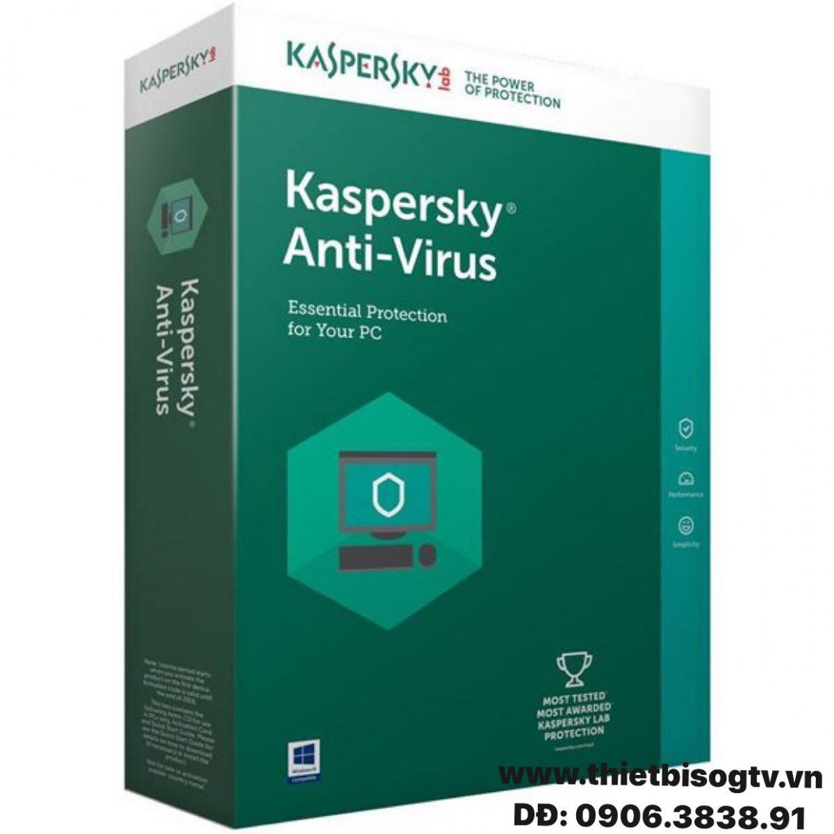 phần mềm diệt virus kaspersky anti-virus 1pc