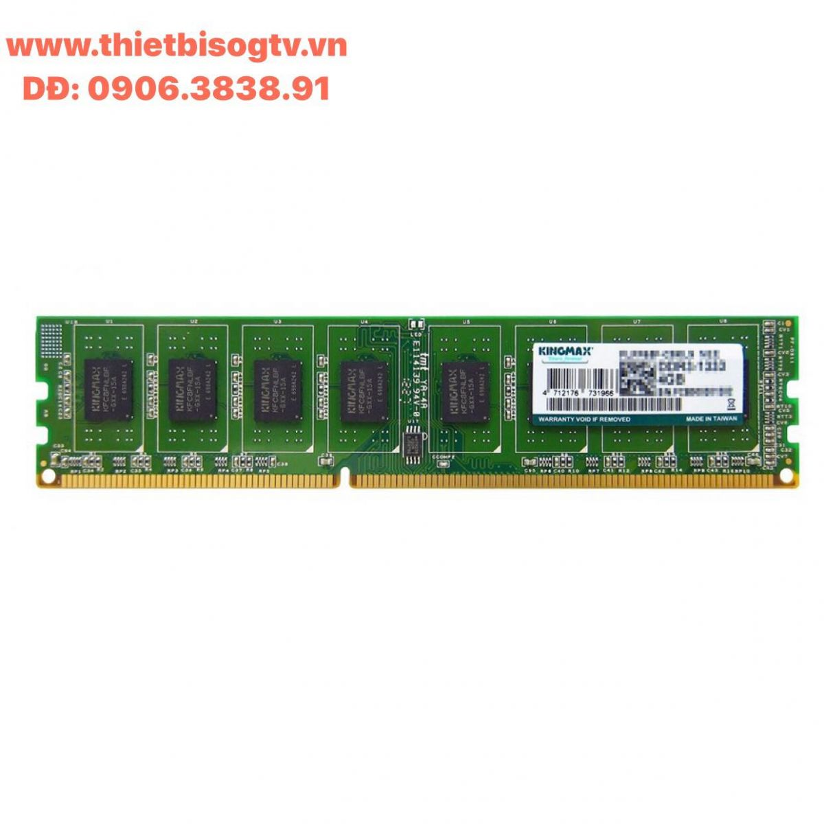 Bộ nhớ DDR3 Kingmax 4GB bus 1333